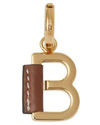 Burberry - Leather-wrapped 'b' Alphabet Charm - Lyst