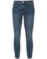 Current/Elliott - Cropped Jeans - Lyst