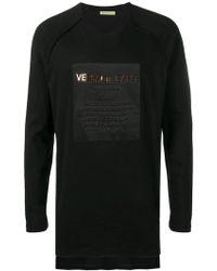 Versace Jeans - Langarmshirt mit Logo - Lyst