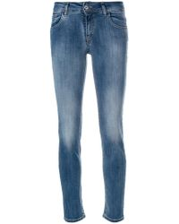 Blumarine - Cropped Skinny Jeans - Lyst