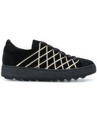 Philippe Model - Velvet Button Sneakers - Lyst