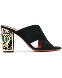 Santoni - Embellished Heel Sandals - Lyst