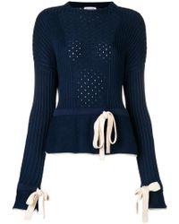 Sonia Rykiel - Perforated Knit Jumper - Lyst