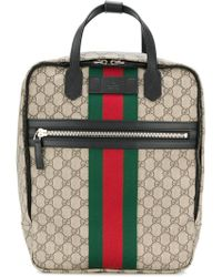 Gucci Small Gg Supreme Tian Print Backpack in Red for Men - Lyst 4178e8acd7