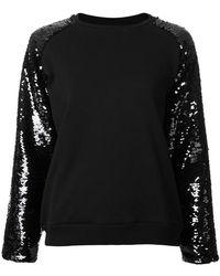 Giamba | Sequin Sleeve Sweatshirt | Lyst