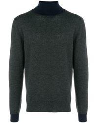 Altea - Two-tone Turtleneck Sweater - Lyst