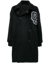 Opening Ceremony - Double Breasted Logo Coat - Lyst