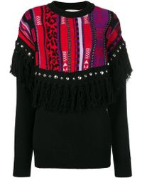 Laneus - Fringed Knit Jumper - Lyst