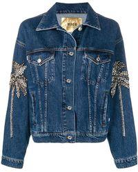 MSGM - Джинсовая Куртка С Отделкой Кристаллами - Lyst