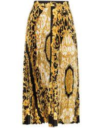6f0b6e2f61e Versace - Baroque-print Pleat Skirt - Lyst
