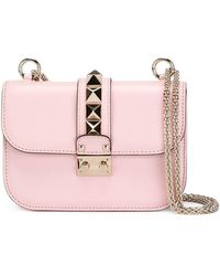 9847b80d7ea1 Lyst - Valentino  Glam Lock  Cross Body Bag in Pink
