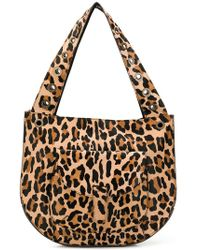 P.A.R.O.S.H. - Leopard Large Shoulder Bag - Lyst