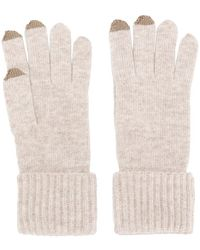 N.Peal Cashmere - Ribbed Gloves With Touch Screen Tips - Lyst