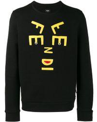 Fendi - Letters Face Sweatshirt - Lyst
