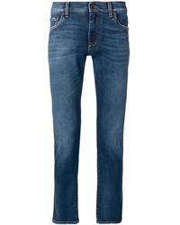 Dolce & Gabbana Jean slim à logo brodé - Bleu