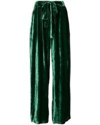 Roberto Collina - High-waisted Velvet Trousers - Lyst
