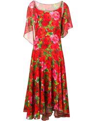 Richard Quinn - Rose Printed Long Dress - Lyst