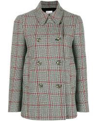 RED Valentino - Caban Peacoat - Lyst