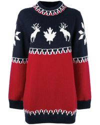 DSquared² - Intarsia Knitted Dress - Lyst