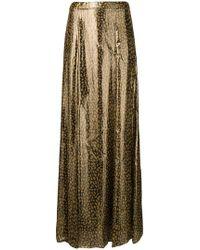 Alice + Olivia - Long Leopard Print Skirt - Lyst