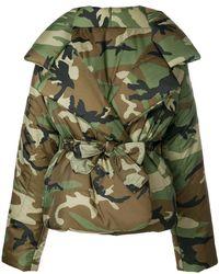 Norma Kamali - Oversized Camouflage Print Jacket - Lyst