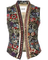 Bazar Deluxe - Floral Embroidery Gilet - Lyst