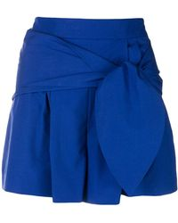 Genny - High-waisted Belted Shorts - Lyst
