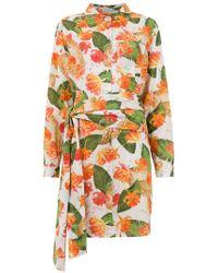 Isolda - Printed Long Line Shirt - Lyst