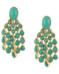 Aurelie Bidermann - Turquoise Drop Earrings - Lyst