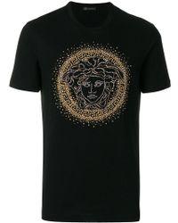 ac413c70 Lyst - Versace Medusa Studded T-shirt in Black for Men