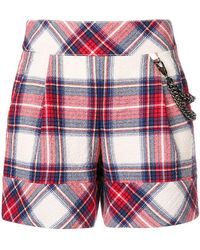 Boutique Moschino - Tartan Patterned Shorts - Lyst