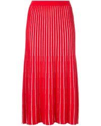 G.v.g.v - Sheer Striped Knit Skirt - Lyst