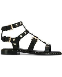 Ash - Studded Caged Sandals - Lyst
