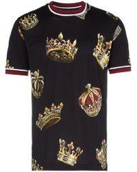 Dolce & Gabbana - T-shirt à imprimé couronnes - Lyst
