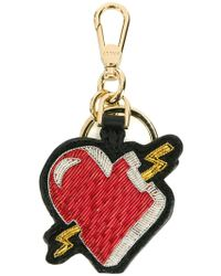 Bally - Heart Embroidered Keychain - Lyst