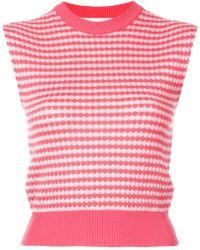 Marni - Sleeveless Patterned Knit Top - Lyst