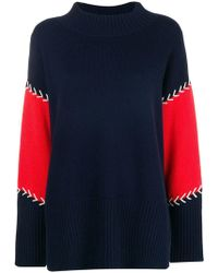 Chinti & Parker - Contrast Stitch Panelled Sweater - Lyst