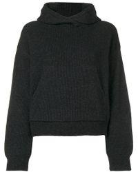 Nanushka - Knitted Hoodie - Lyst
