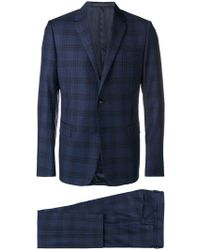 Valentino - Two Piece Check Suit - Lyst