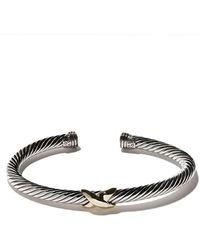 David Yurman - 14kt Yellow Gold X Silver Cuff Bracelet - Lyst