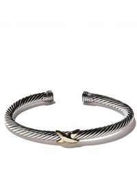 David Yurman - 14kt Yellow Gold X Silver Cuff Bracelet - Lyst