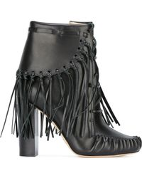 Elie Saab - Fringed Ankle Boots - Lyst