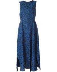 Julien David - Calico Print Flared Dress - Lyst