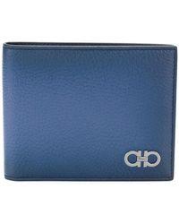 Ferragamo - Double Gancio Bi-fold Wallet - Lyst