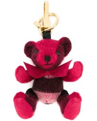 Burberry - Thomas Bear Charm In Check Cashmere - Lyst