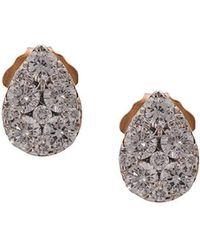 Sara Weinstock - 18kt Rose Gold Reverie Pear Cluster Diamond Sud Earrings - Lyst