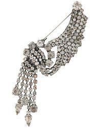 Erika Cavallini Semi Couture - Crystal Brooch - Lyst