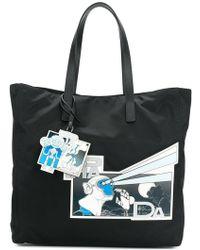 Prada - Monkey Robot Logo Print Shopping Tote - Lyst