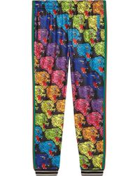 Gucci - Panther Face Technical Jersey jogging Pants - Lyst