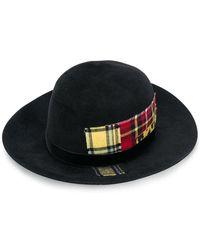 Ermanno Scervino - Tartan Detail Fedora Hat - Lyst